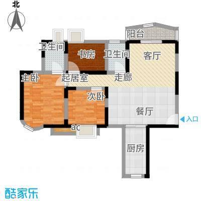 莲花苑88.00㎡莲花苑2室户型2室