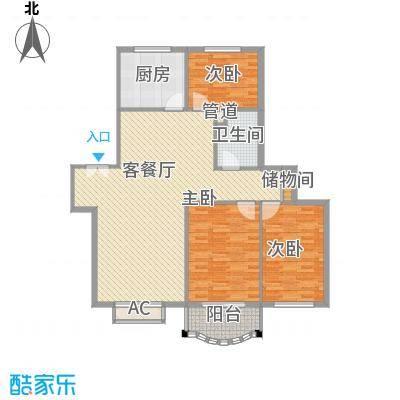 汇隆花园汇隆花园户型图3室2厅1卫1厨户型10室