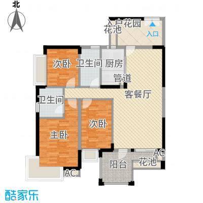 江南第一城123.00㎡江南第一城户型图82栋标准层1单元04、2单元01户型3室2厅2卫1厨户型3室2厅2卫1厨