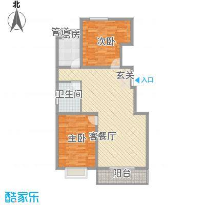 后卫金都99.00㎡后卫金都户型图99平米户型2室2厅1卫1厨户型2室2厅1卫1厨