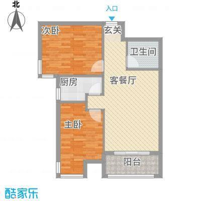 罗马花园88.36㎡罗马花园户型图两室两厅一卫88.362室2厅1卫1厨户型2室2厅1卫1厨