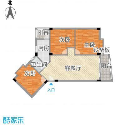 锦绣华庭113.11㎡锦绣华庭户型图19栋5043室2厅1卫1厨户型3室2厅1卫1厨