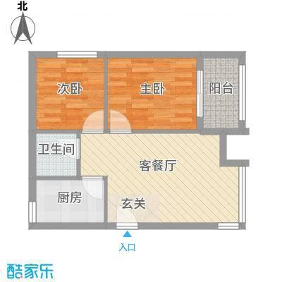 罗马花园62.25㎡罗马花园户型图两室两厅一卫62.252室2厅1卫1厨户型2室2厅1卫1厨