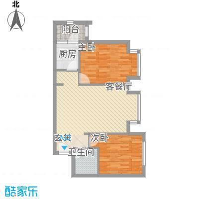 罗马花园78.71㎡罗马花园户型图两室两厅一卫78.712室2厅1卫1厨户型2室2厅1卫1厨