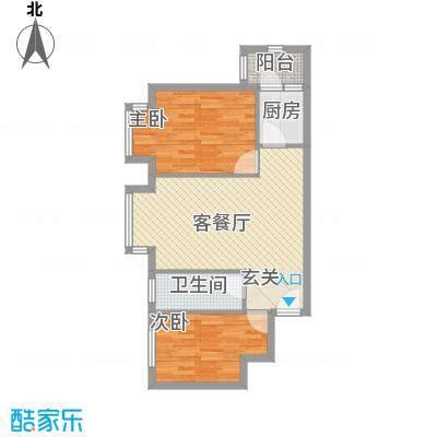 罗马花园81.18㎡罗马花园户型图两室两厅一卫81.182室2厅1卫1厨户型2室2厅1卫1厨