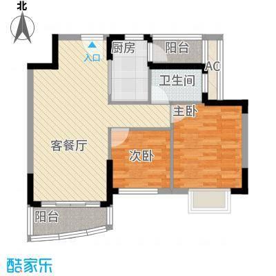 中惠山畔名城82.00㎡中惠山畔名城2室户型2室