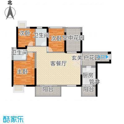 黄旗山1号134.00㎡黄旗山1号3室户型3室