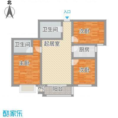 迎西城・龙湾佳园111.57㎡迎西城・龙湾佳园户型图D户型3室2厅2卫1厨户型3室2厅2卫1厨