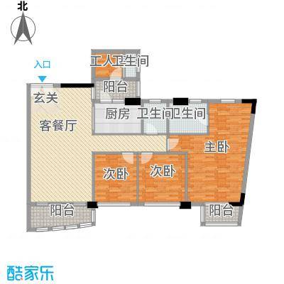 利澳花园187.00㎡利澳花园虎门港1号3室户型3室