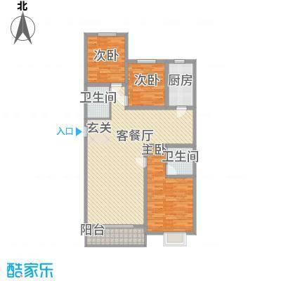 滨河绿洲145.00㎡滨河绿洲户型图户型(四)3室2厅2卫1厨户型3室2厅2卫1厨