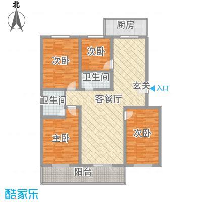 丰硕苑157.86㎡丰硕苑户型图4室2厅2卫户型10室