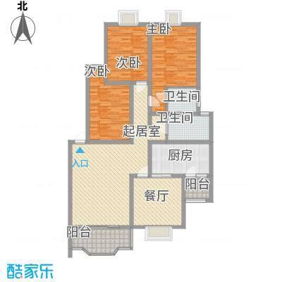 塞纳阳光127.48㎡塞纳阳光户型图7号楼B户型3室2厅2卫1厨户型3室2厅2卫1厨
