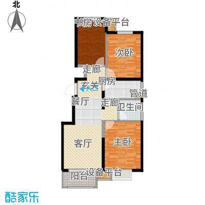 晋中万科・朗润园户型图逸兴苑A1 3室2厅1卫1厨