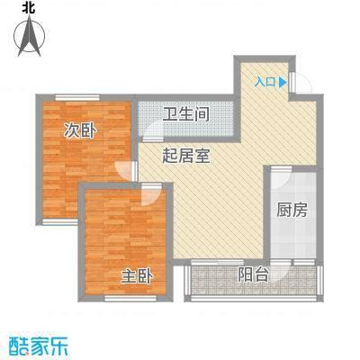 新星花园100.05㎡新星花园户型图J户型2室2厅1卫1厨户型2室2厅1卫1厨
