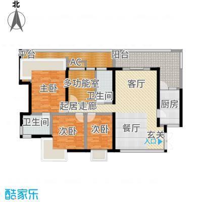 兴业华庭130.00㎡兴业华庭3室户型3室
