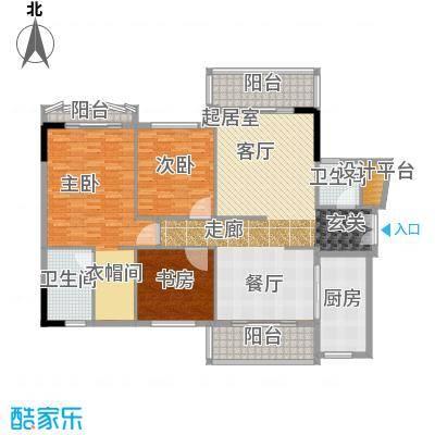 东田丽园五期168.00㎡东田丽园五期4室户型4室