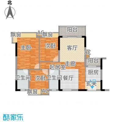 东田丽园五期117.35㎡东田丽园五期户型图富山居9栋10栋04户型117.35㎡二室一卫3室2厅2卫1厨户型3室2厅2卫1厨