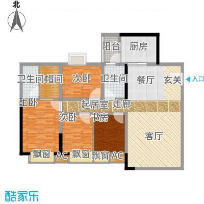 东田丽园五期135.00㎡东田丽园五期4室户型4室