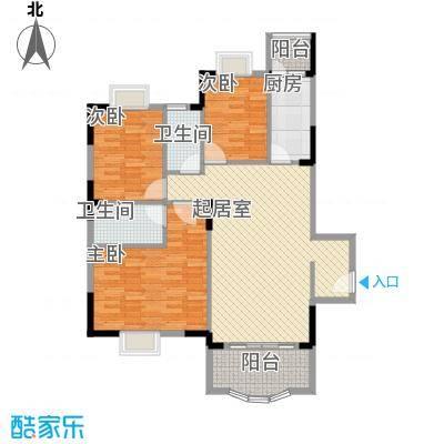 霞晖花园116.00㎡霞晖花园户型图杰座经典3室2厅1卫1厨户型3室2厅1卫1厨