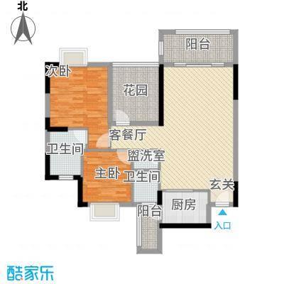 丰泽园102.83㎡丰泽园户型图标准层G2G3户型2室2厅2卫1厨户型2室2厅2卫1厨