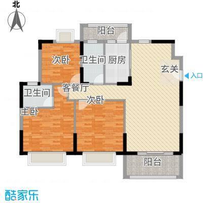 丰泽园125.74㎡丰泽园户型图标准层F2户型3室2厅2卫1厨户型3室2厅2卫1厨