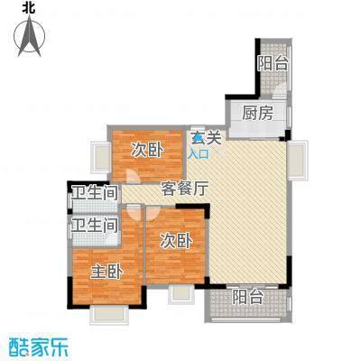 丰泽园128.76㎡丰泽园户型图标准层G1户型3室2厅2卫1厨户型3室2厅2卫1厨