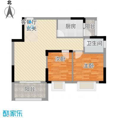 丰泽园78.43㎡丰泽园户型图标准层E2户型2室2厅1卫1厨户型2室2厅1卫1厨