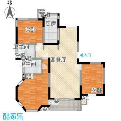 凯运天地133.71㎡凯运天地户型图GC13室2厅1卫1厨户型3室2厅1卫1厨