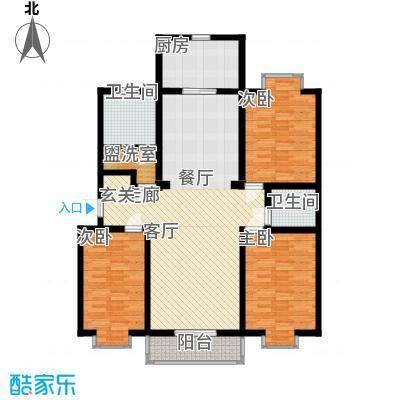 V特区124.10㎡V特区户型图舒适三居3室1厅1卫1厨户型3室1厅1卫1厨