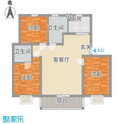 汇景豪庭131.51㎡汇景豪庭户型图E户型3室2厅2卫1厨户型3室2厅2卫1厨
