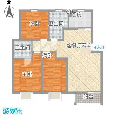 汇景豪庭119.19㎡汇景豪庭户型图D户型3室2厅2卫1厨户型3室2厅2卫1厨