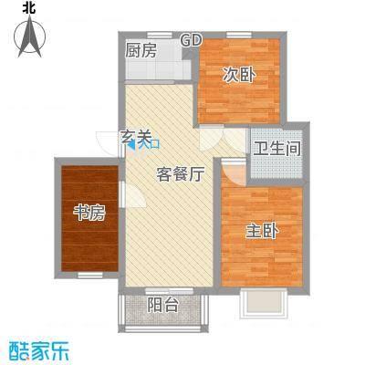 汇景豪庭85.22㎡汇景豪庭户型图C户型3213室2厅1卫1厨户型3室2厅1卫1厨