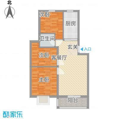 汇景豪庭87.25㎡汇景豪庭户型图F户型3室2厅1卫1厨户型3室2厅1卫1厨