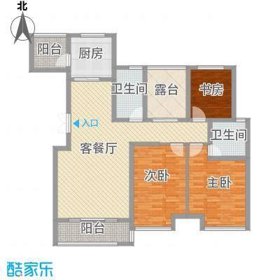 昆仑奥韵132.16㎡昆仑奥韵户型图7、8栋B1户型3室2厅2卫1厨户型3室2厅2卫1厨
