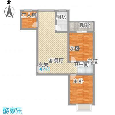 裕峰花园户型图户型图2(售完) 3室2厅1卫