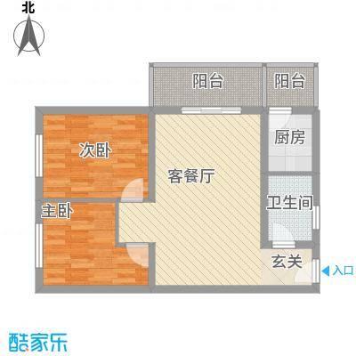 裕峰花园户型图A户型82.78平米在售 2室1厅1卫1厨