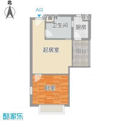 唐山万达广场户型图G3户型 1室2厅1卫1厨