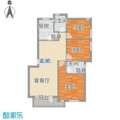 长城都市阳光户型图3室2厅2卫1厨