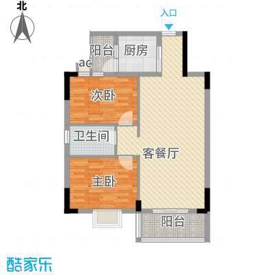 银丰花园户型图40座-43座03单元1-10层 2室2厅