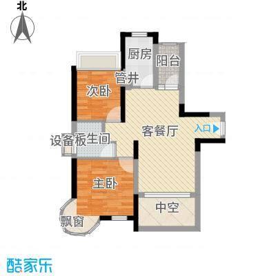 香缤雅苑户型图5、6栋标准层1单元03户型2单元06户型 2室2厅1卫1厨