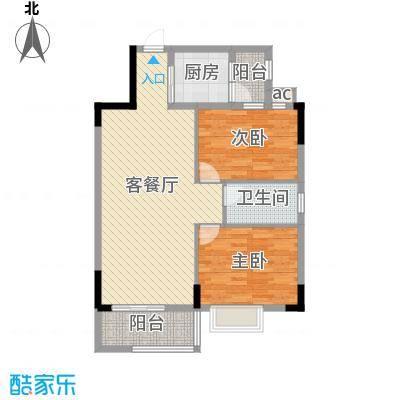 银丰花园户型图40座-43座04单元1-10层 2室2厅