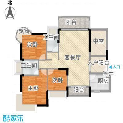 香缤雅苑户型图10栋2单元标准层03户型 3室2厅2卫1厨