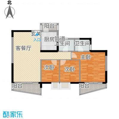 莲花住宅区 3室 户型图