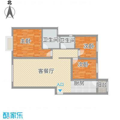 太原富力现代广场户型图3室2厅2卫129.34 3室2厅2卫1厨