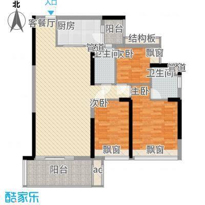 怡翠宏�户型图怡翠宏景3座-01 3室2厅2卫