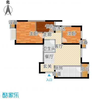 富力城・龙栖谷户型图1#楼户型(一) 3室2厅1卫