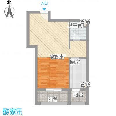 金域名邸58.00㎡金域名邸户型图G2户型1室2厅1卫1厨户型1室2厅1卫1厨