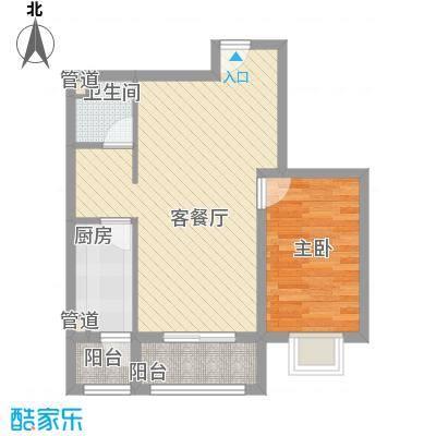 金域名邸71.00㎡金域名邸户型图G3户型1室2厅1卫1厨户型1室2厅1卫1厨