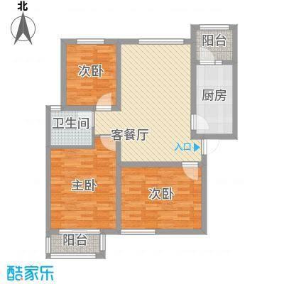 金域名邸107.00㎡金域名邸户型图F1户型3室2厅1卫1厨户型3室2厅1卫1厨