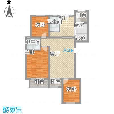 金域名邸118.00㎡金域名邸户型图G1户型3室2厅2卫1厨户型3室2厅2卫1厨